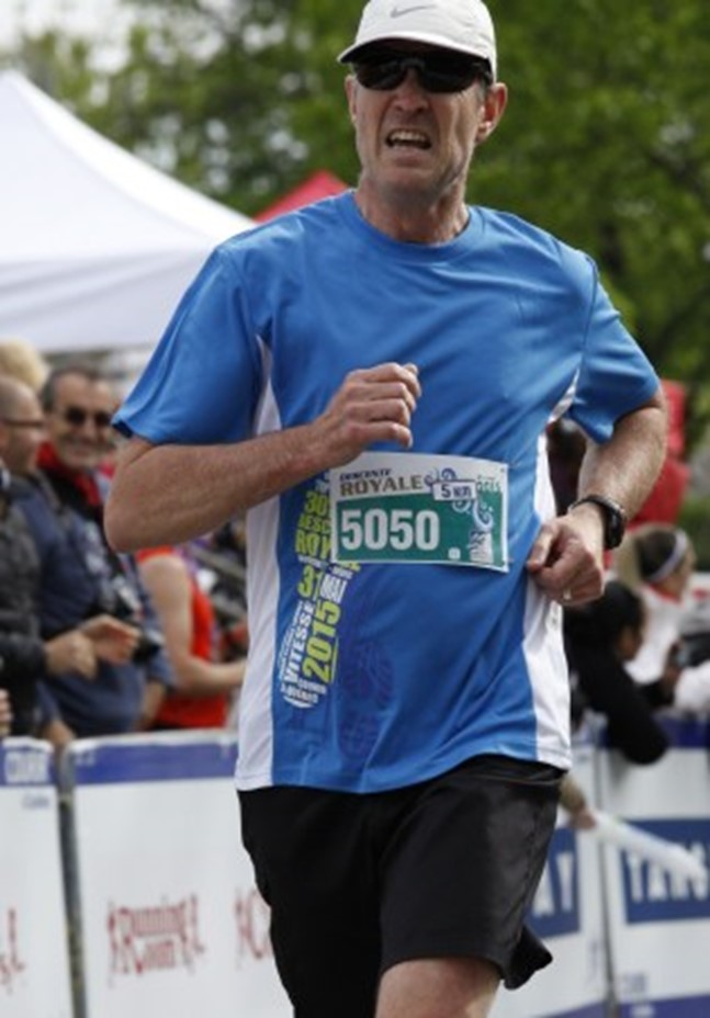 Louis Beaulé en marathon.
